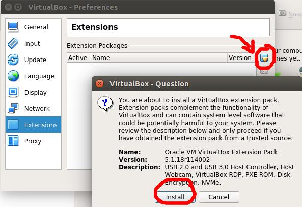 oracle vm virtualbox extension pack ubuntu