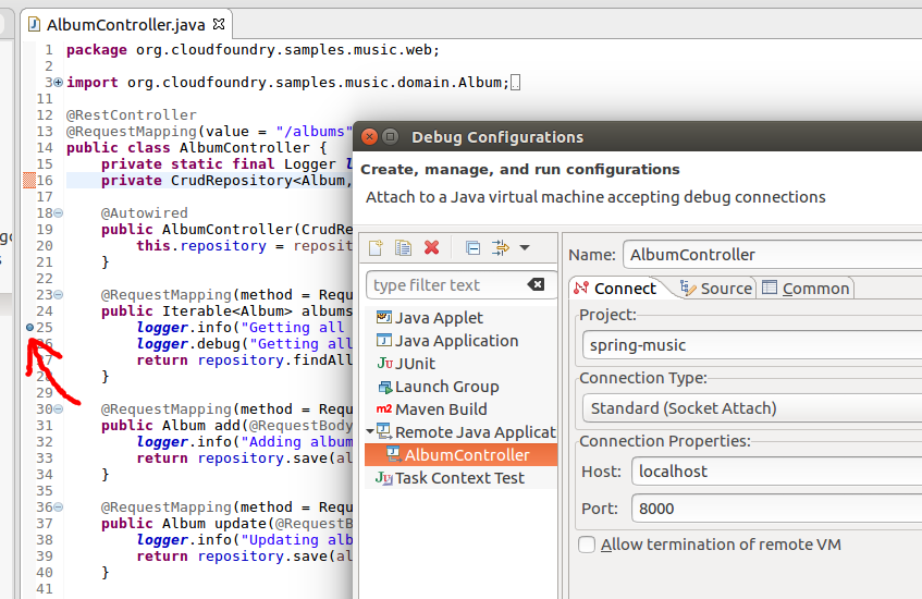 CloudFoundry: Enabling Java remote debugging with Eclipse – Fabian