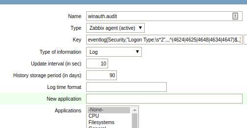 Zabbix: Monitoring Windows performance metrics and event log