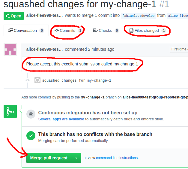 Git: Contributing to a git project using a pull request